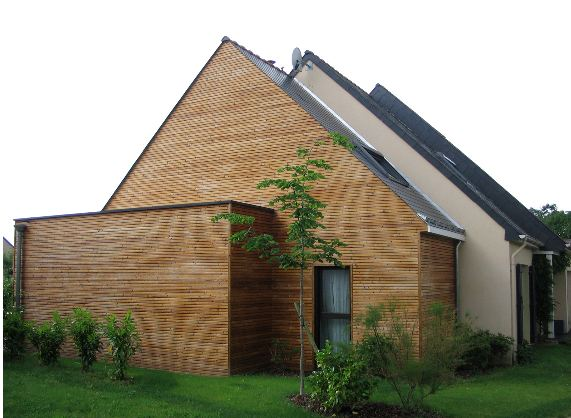 Extension en bois d'une maison – Rupture avec l'existant
