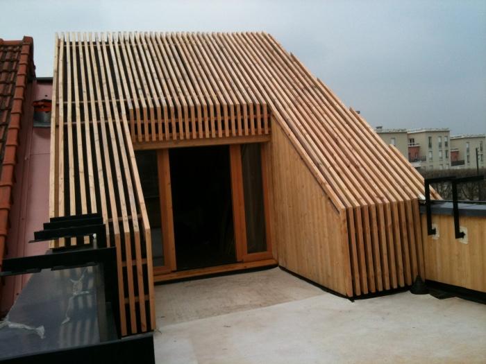 Excellent agrandissement maison de ville : extension en bois HQE avec toit  ZY42