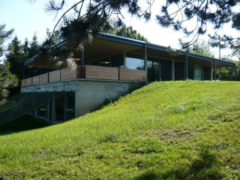 extension maison toit plat, extension metal, contemporaine - Lyon ...