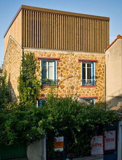 Surélévation en bois d'une maison de ville (Montreuil)